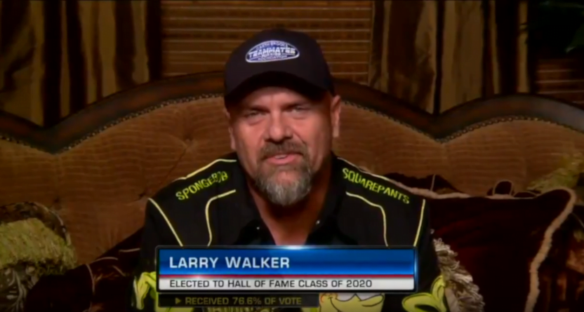 Larry Walker on his Hall of Fame induction.