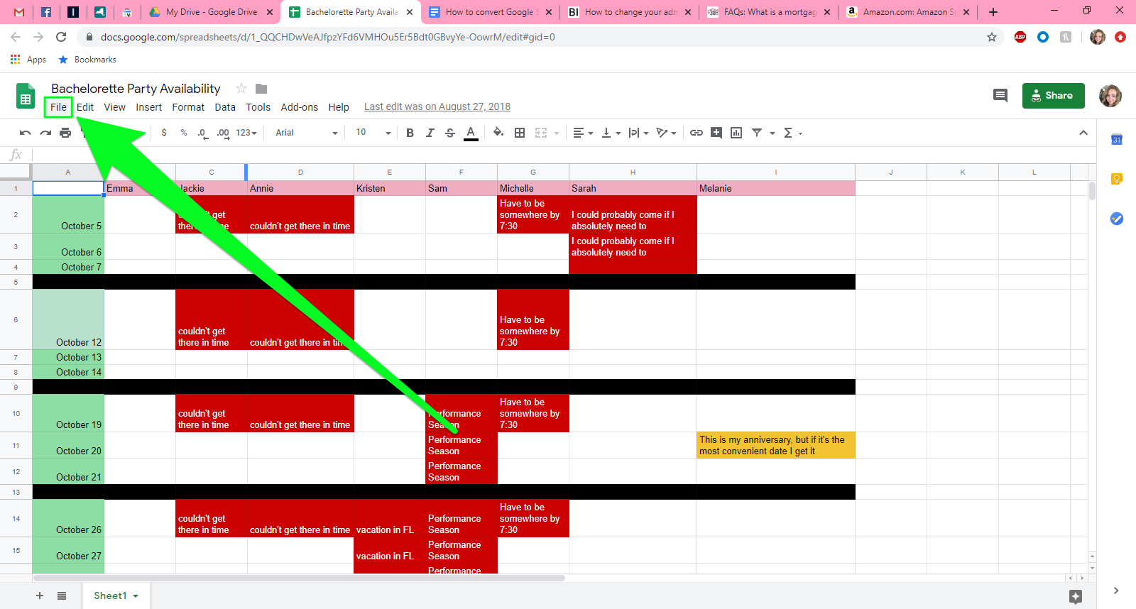 How to convert Google Sheets to Excel   1