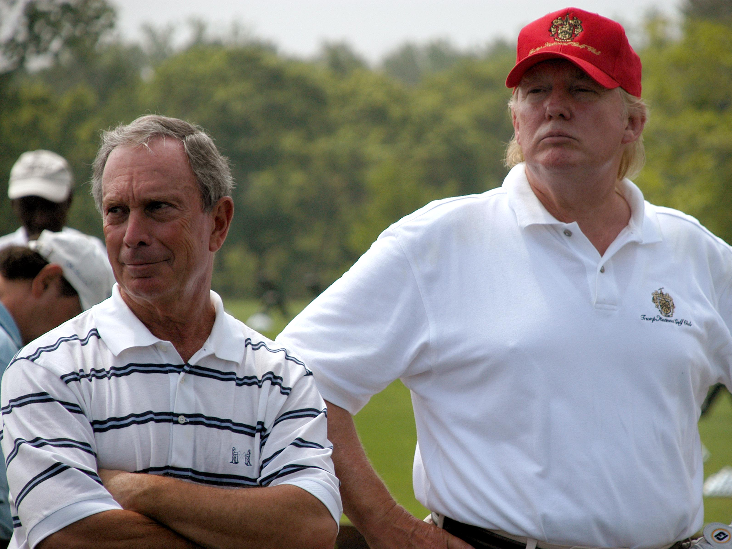 Mike Bloomberg and Donald Trump on golf course