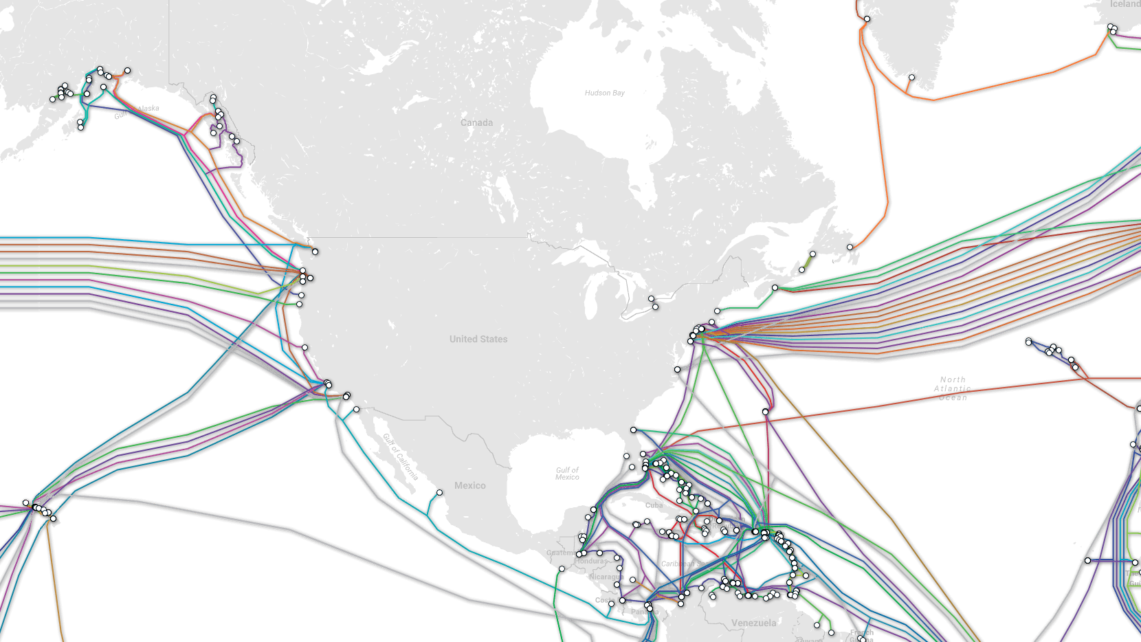 undersea internet cables map